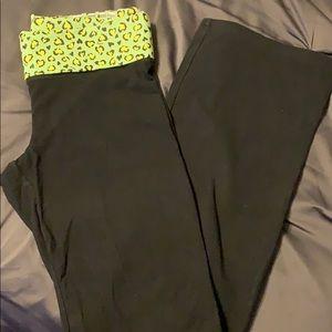 Victoria's Secret Fold Top Yoga Pants- Medium